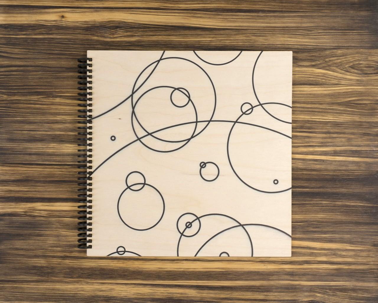 """Деревянный скетчбук для маркеров """"Круги"""" 30х30 см"""