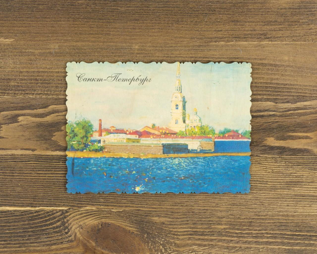 """Деревянная открытка """"Петропавловская крепость"""""""