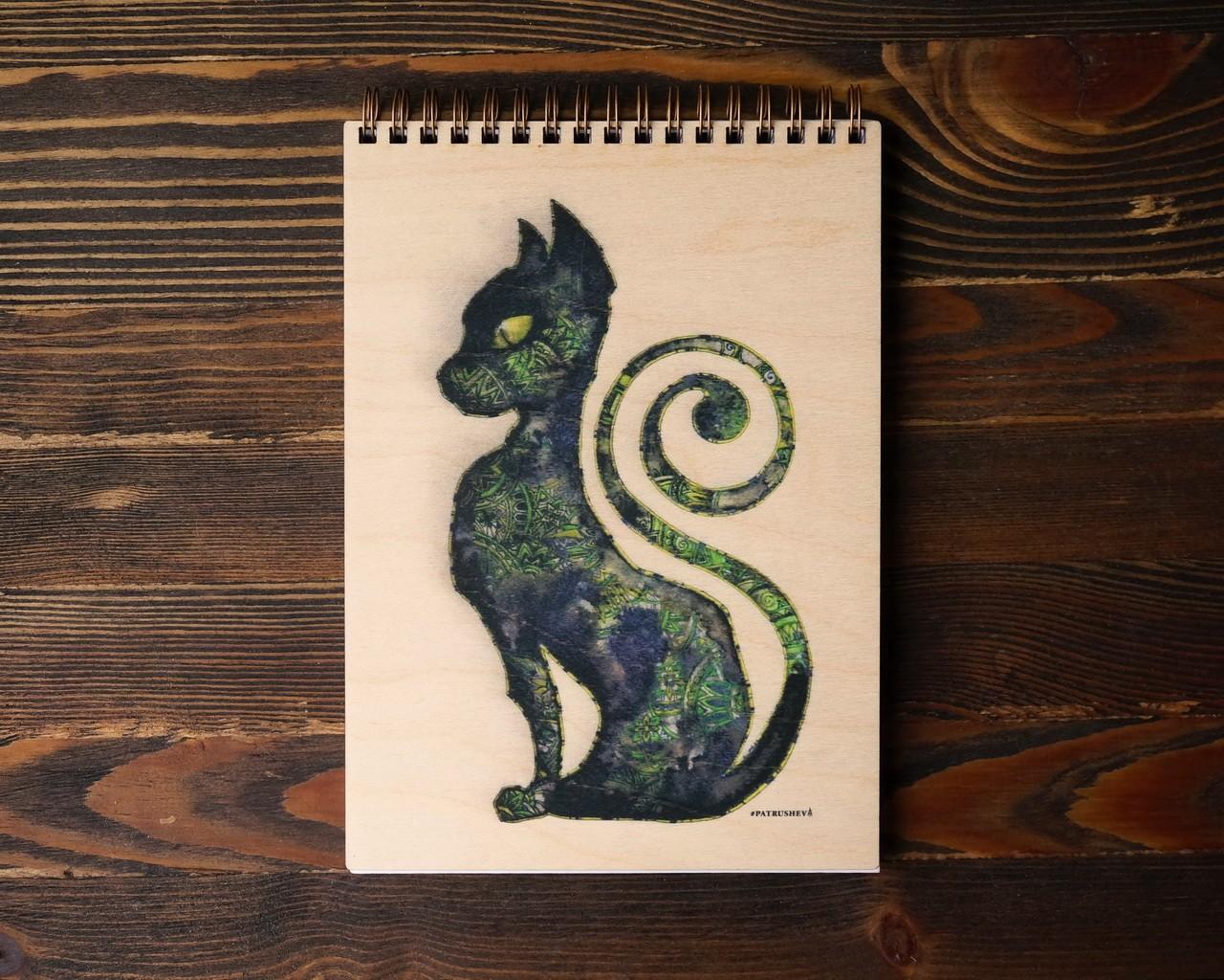 Деревянный блокнот Кошка Египта