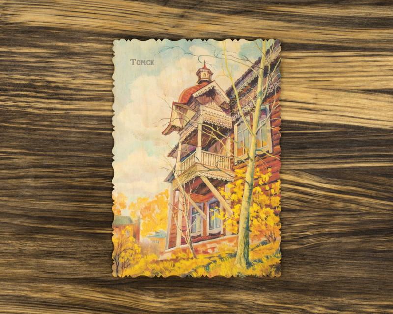 """Деревянная открытка """"Осенние мотивы"""" А5"""