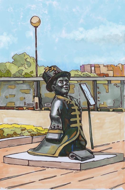 Скульптура Ижик