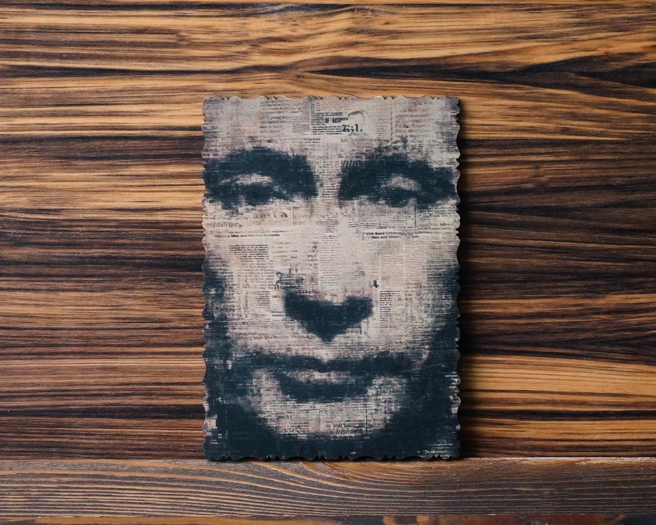 """Деревянная открытка """"Наш президент"""""""